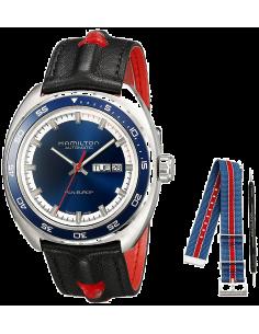 Chic Time   Montre Hamilton H35405741 American Classic Automatique et cadran bleu    Prix : 995,00€