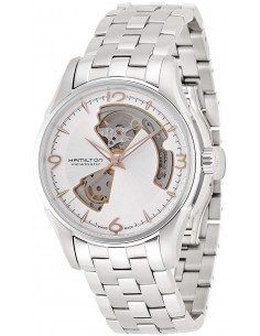 Chic Time | Montre Hamilton H32565155 Jazzmaster Open Heart Automatique Argent  | Prix : 975,00€