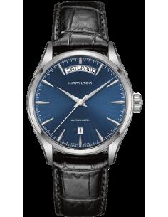 Chic Time | Montre Hamilton H32505741 Jazzmaster Automatique Cuir noir bracelet  | Prix : 607,50€