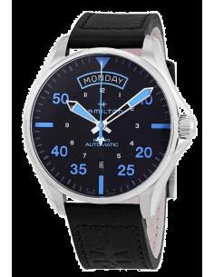 Chic Time | Montre Hamilton H64625731 Khaki Pilot Air Zermatt Auto Cuir Noir bracelet  | Prix : 895,00€