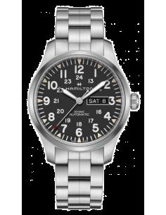 Chic Time | Montre Hamilton H70535131 Khaki Day Field Automatique Argent  | Prix : 945,00€