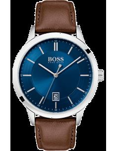 Chic Time   Montre Homme Hugo Boss Officer 1513612 Bleu cadran et cuir marron    Prix : 199,00€