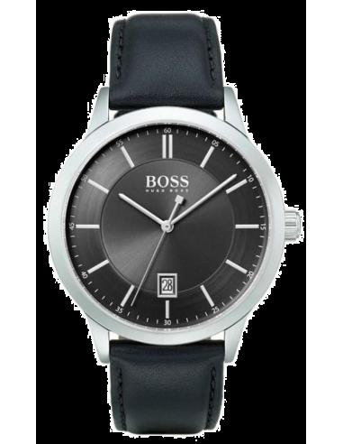 Chic Time | Montre Homme Hugo Boss Officer 1513611 Cuir noir  | Prix : 199,00€