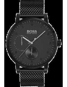 Chic Time | Montre Homme Hugo Boss Oxygen 1513636 Noir bracelet en mesh  | Prix : 349,00€