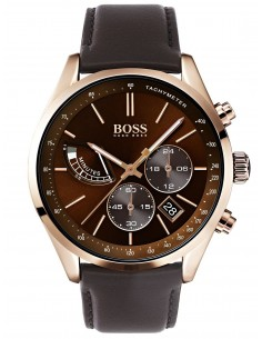 Chic Time | Montre Homme Hugo Boss Grand Prix 1513605 Chronographe cuir marron bracelet  | Prix : 399,00 €