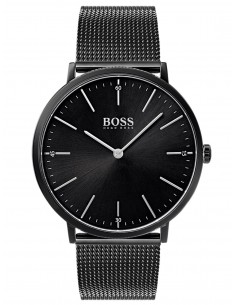 Chic Time | Montre Homme Hugo Boss Horizon 1513542 Noir bracelet en mesh  | Prix : 249,00€