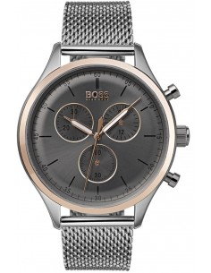 Chic Time | Montre Hugo Boss Companion 1513549 Chronographe bracelet en mesh  | Prix : 227,40 €