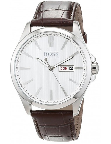 Chic Time | Montre Homme Hugo Boss Classic 1513532 Cuir marron bracelet  | Prix : 239,00€