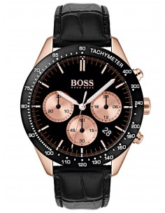 Chic Time | Montre Hugo Boss Talent 1513580 Chronographe Cuir noir bracelet  | Prix : 230,30 €