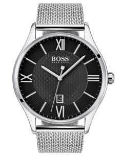 Chic Time | Montre Hugo Boss Governor 1513601 Argent bracelet maille milanaise  | Prix : 99,60 €
