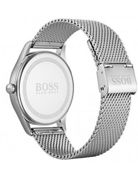 Chic Time | Montre Homme Hugo Boss Governor 1513601 Argent bracelet maille milanaise  | Prix : 199,20 €