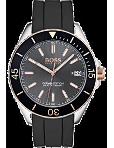 Chic Time | Montre Homme Hugo Boss Ocean Edition 1513558 Noir Silicone bracelet  | Prix : 159,20€