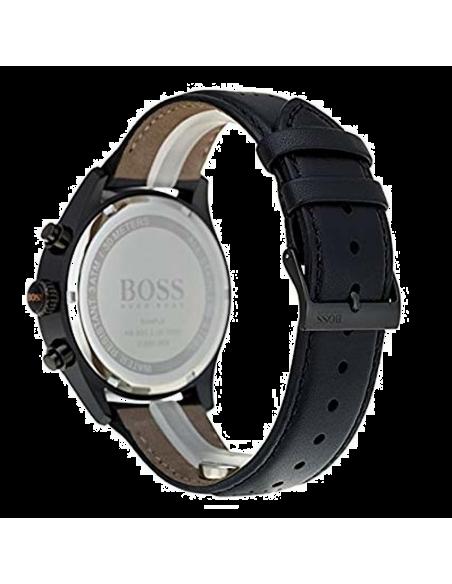 Chic Time | Montre Homme Hugo Boss Grand Prix 1513550 Chronographe cuir noir bracelet  | Prix : 227,40€