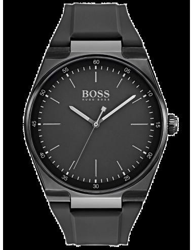 Chic Time | Montre Homme Hugo Boss Magnitude 1513565 Noir bracelet resin  | Prix : 249,00€