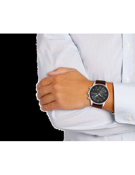 Chic Time | Montre Hugo Boss Navigator Chronomètre 1513494 Marron  | Prix : 239,20€