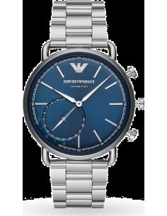 Chic Time | Montre Homme Emporio Armani Connected ART3028 Hybrid Smartwatch avec bracelet en acier à trois mailles  | Prix : ...