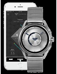 Chic Time | Montre Homme Emporio Armani Connected ART5006 Hybrid Smartwatch avec bracelet en acier argent  | Prix : 224,25€