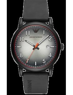 Chic Time | Montre Homme Emporio Armani Luigi AR11176 noir bracelet caoutchouc  | Prix : 119,40€