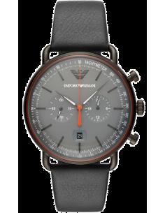 Chic Time | Montre Homme Emporio Armani AR11168 Chronographe avec cuir gris bracelet  | Prix : 329,00€
