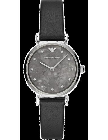 Chic Time   Montre Femme Emporio Armani Gianni AR11171 Cuir noir bracelet    Prix : 139,50€