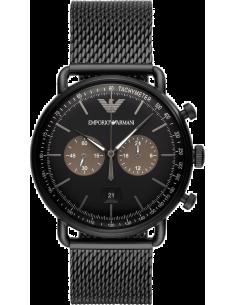 Chic Time | Montre Homme Emporio Armani Aviator AR11142 Chronographe Avec noir Acier  | Prix : 299,25€