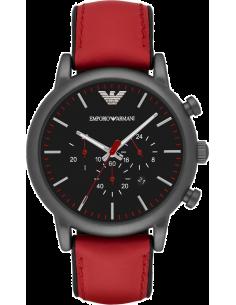 Chic Time | Montre Homme Emporio Armani AR1971 Rouge Bracelet en cuir  | Prix : 171,75€