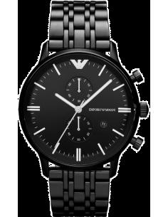 Chic Time | Montre Homme Emporio Armani Gianni AR1934 Chronographe Avec noir Acier  | Prix : 249,00€