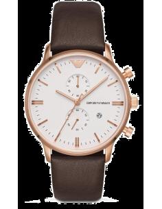 Chic Time | Montre Homme Emporio Armani Classic AR1936 Chronographe Cuir marron  | Prix : 224,25€