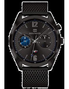 Chic Time | Montre Homme Tommy Hilfiger Deacon 1791547 noir en Acier mesh bracelet  | Prix : 249,90€