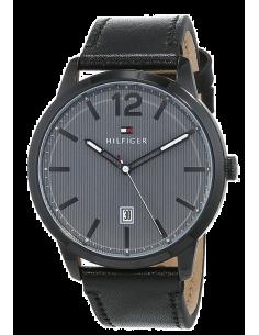 Chic Time | Montre Homme Tommy Hilfiger Dustin 1791497 Noir Cur bracelet  | Prix : 159,00€