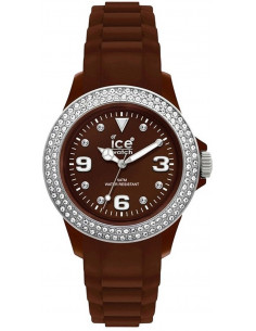 Chic Time | Ice Watch  - Montre Ice Watch ST.NS.U.S.10 Marron Strass sur lunette  - Prix : 132,00 €