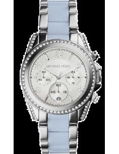 Chic Time | Montre Michael Kors Blair MK6137 Bracelet en acétate bleu et acier  | Prix : 239,20€