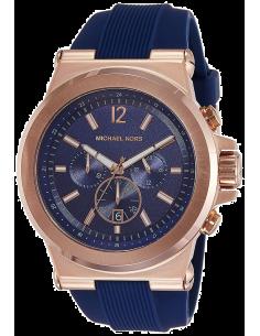 Chic Time | Montre Homme Michael Kors Dylan MK8295 Bracelet en silicone bleu  | Prix : 190,00€