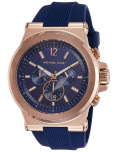 Chic Time | Montre Homme Michael Kors Dylan MK8295 Bracelet en silicone bleu  | Prix : 167,40€
