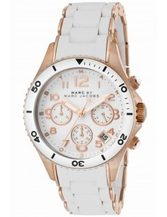 Chic Time | Montre Femme Marc Jacobs Rock Chrono MBM2547 Blanc  | Prix : 179,00 €