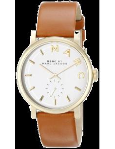Chic Time | Montre Marc by Marc Jacobs Baker MBM1316 Index dorés et bracelet en cuir brun  | Prix : 139,30€