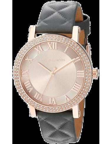 Chic Time | Montre Michael Kors Norie MK2619 Bracelet en cuir gris  | Prix : 206,10€