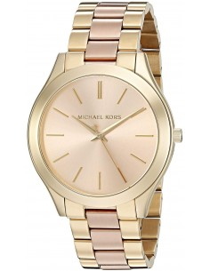 Chic Time | Montre Michael Kors Runway MK3493 Bracelet acétate et acier or rose  | Prix : 203,15€