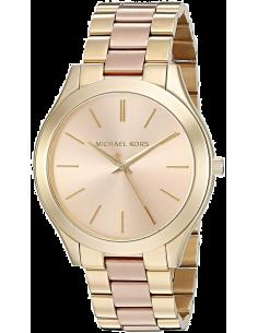 Chic Time | Montre Michael Kors Runway MK3493 Bracelet acétate et acier or rose  | Prix : 191,20€