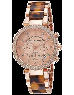 Chic Time | Montre Femme Michael Kors Parker MK5538 Bracelet acétate et acier  | Prix : 231,20€