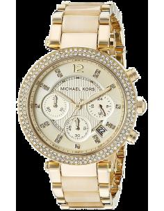 Chic Time | Montre Femme Michael Kors Parker MK5632 Bracelet acétate et acier doré  | Prix : 239,20€