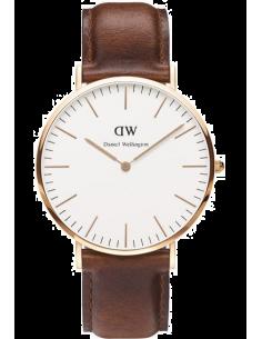 Chic Time | Montre Daniel Wellington Classic St Mawes DW001000006 Bracelet cuir marron  | Prix : 113,40€