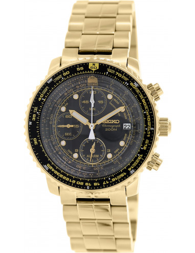 Chic Time | Montre Homme Seiko Flight SNA414P1 Or  | Prix : 271,20 €