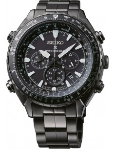 Chic Time | Montre Chronomètre aviateur Seiko Prospex Sky Radio Sync Solar SSG003P1 Noire  | Prix : 665,10€