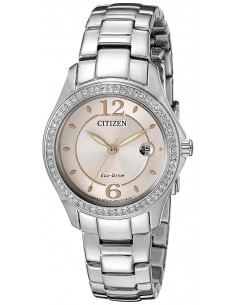 Chic Time | Montre Femme Citizen Eco Drive Silhouette Crystal FE1140-86X  | Prix : 449,98€