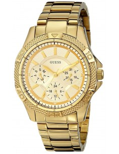 Chic Time | Montre Femme Guess Mini Phantom W0235L5 Or poli & Lunette striée  | Prix : 137,40 €
