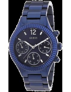 Chic Time   Montre Femme Guess W0323L4 Bracelet et boîtier en acier bleu    Prix : 93,00€