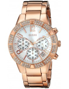 Chic Time | Montre Femme Guess Sporty W0141L3 Or Rose  | Prix : 309,00 €