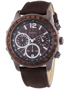 Chic Time | Montre Femme Guess W0017L4 Lady B Chronographe Marron & Strass  | Prix : 359,98 €
