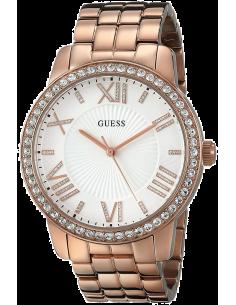 Chic Time | Montre Femme Guess Allure W0329L3 Lunette avec strass et bracelet couleur or rose  | Prix : 299,00€